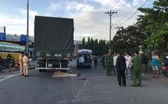 Thai phụ bị xe tải cán chết trên đường đi khám thai