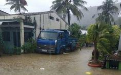 Mưa lớn, đảo Thổ Châu có nơi ngập sâu cả mét