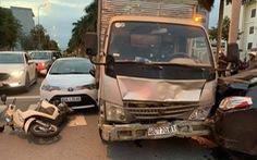 Xe tải tông 3 xe dừng đèn đỏ ở Đà Nẵng đã hết hạn kiểm định