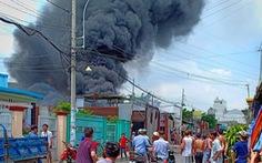 Đốt rác bất cẩn làm cháy cơ sở làm dây sản xuất võng