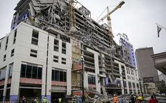 Tòa nhà Mỹ vỡ vụn như bánh tráng khi đang thi công