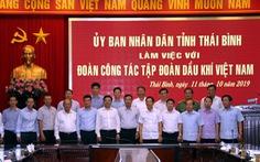 Lãnh đạo UBND tỉnh Thái Bình làm việc với Tổng giám đốc  PV GAS