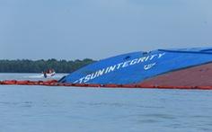 Vụ chìm tàu ở Cần Giờ: Đã hút hơn 50 tấn dầu từ tàu Vietsun Integrity