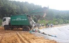 Xe chở rác đã vào được khu xử lý sau 3 tháng bị 'phong tỏa'