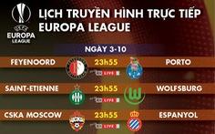 Lịch trực tiếp Europa League hôm nay