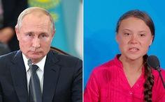 Ông Putin không thích thú với phát biểu của nhà hoạt động môi trường 16 tuổi