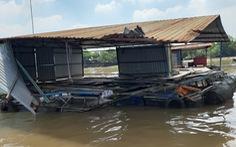 Sà lan chở than đâm chìm bè cá, thiệt hại trên 1 tỉ đồng