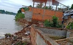 Tiếp tục sạt lở tại An Giang, nhiều hộ dân bị đe dọa