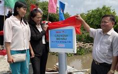 70 triệu đồng xây cầu nối 5 ấp ven sông xã biên giới Phước Chỉ