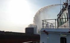Cháy hầm tàu Trung Quốc chở sắt phế liệu ở biển Vũng Tàu