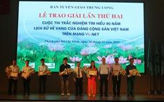 Trao giải lần 2 cuộc thi tìm hiểu 90 năm lịch sử vẻ vang của Đảng Cộng sản Việt Nam