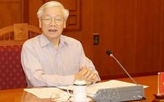 Tổng bí thư, Chủ tịch nước Nguyễn Phú Trọng chủ trì họp về phòng chống tham nhũng