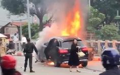 Vụ ôtô bốc cháy sau khi gây tai nạn: nữ tài xế đến công an trình diện