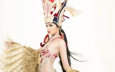 Quốc phục 'hở hang' gây tranh cãi của Ngọc Châu tại Miss Supranational