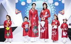Hoa hậu Mỹ Linh mặc áo dài Ngọc Hân tại Tuần lễ thời trang thiếu nhi châu Á