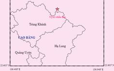 Thêm trận động đất gần Cao Bằng