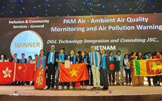 Ứng dụng theo dõi chất lượng không khí của startup Việt giành giải quốc tế