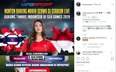 Thì ra Maria Ozawa coi SEA Games để quảng cáo cá cược bóng đá