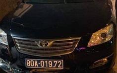 Xe biển xanh của Liên đoàn bóng đá Việt Nam gây tai nạn trong đêm