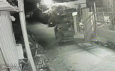 Camera ghi cảnh trộm đột nhập 'cuỗm' hai xe ba gác lúc rạng sáng