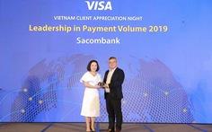 Thẻ Sacombank Visa tiếp tục dẫn đầu thị trường Việt Nam năm 2019
