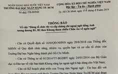 ĐH Ngân hàng TP.HCM dừng thi, cấp chứng chỉ tiếng Anh tương đương B1, B2
