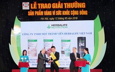 Herbalife Việt Nam nhận giải thưởng 'Sản phẩm Vàng vì Sức khỏe cộng đồng' năm 2019