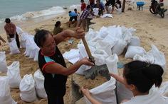 Hàng trăm người dân làng biển Nhơn Hải hối hả lo chống bão