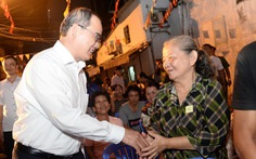 Bí thư Nguyễn Thiện Nhân dự ngày hội đại đoàn kết dân tộc