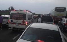 Cao tốc TP.HCM - Long Thành - Dầu Giây kẹt cứng sau tai nạn