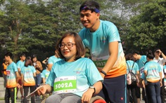 Ghép đôi chạy bộ với người khuyết tật để cùng về đích