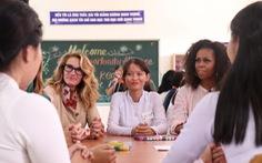 Bà Michelle Obama gặp học sinh Long An: 'Các em đã truyền cảm hứng cho tôi'