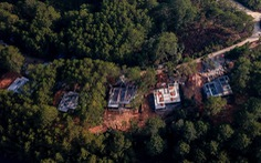 Lại lấn rừng phòng hộ hồ Tuyền Lâm Đà Lạt xây công trình sai phép