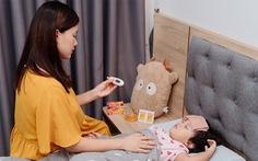 MC Minh Trang chia sẻ cách vượt qua chuỗi ngày chăm con ốm sốt