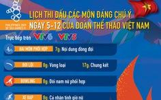 Lịch thi đấu SEA Games 2019 của Đoàn thể thao Việt Nam ngày 5-12