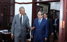 Bí thư Thành ủy Nguyễn Thiện Nhân tiếp xã giao cựu Tổng thống Mỹ Obama