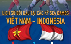 Việt Nam có thành tích đối đầu ngang bằng Indonesia ở SEA Games