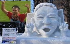 'Messi Thái' được tạc tượng bằng tuyết ở Nhật Bản