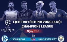 Lịch trực tiếp Champions League ngày 21-2: Atletico Madrid đấu Juventus