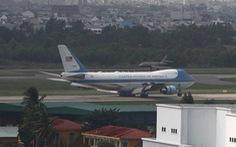 Chuyên cơ dự phòng của tổng thống Mỹ tới Đà Nẵng