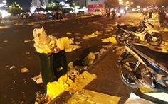 Bến Bạch Đằng rác và rác chưa từng thấy sau đêm giao thừa