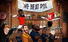 Ảnh chế Arsenal quậy phá tiệc mừng chiến thắng của M.U trước PSG