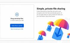 Firefox Send chuyển miễn phí tập tin nặng tới 2.5GB