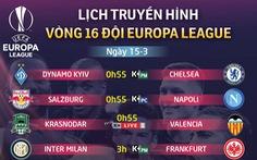 Lịch trực tiếp Europa League 15-3: Chờ Arsenal ngược dòng trước Rennes
