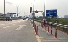 Đã thay dải phân cách bê tông trên cao tốc TP.HCM - Long Thành - Dầu Giây