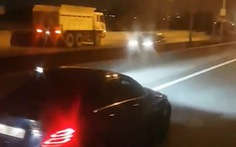 Xe ben chạy ngược chiều tốc độ cao trên cao tốc TP.HCM - Long Thành