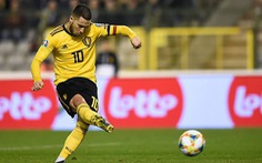 Hai lần bắn hạ 'gấu Nga', Eden Hazard giúp Bỉ có 3 điểm đầu tiên