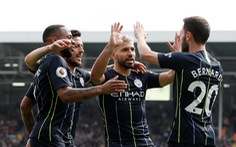 Aguero ghi siêu phẩm, M.C gia tăng áp lực lên Liverpool