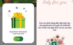 Gửi quà, quản lý tài khoản dễ dàng với VCB-Mobile B@nking