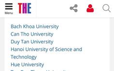 Times Higher Education công bố những đại học VN sinh viên nước ngoài nên theo học